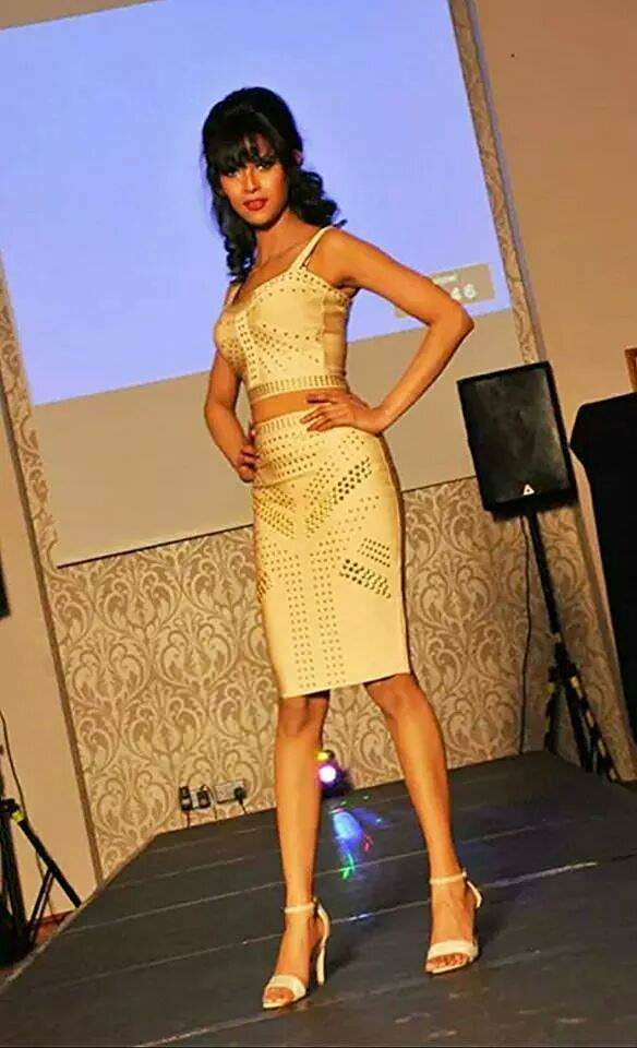 My walks in Dare To Wear Fashion show in the aid of Northern Ireland Children Hospice in Belfast , UK last week .